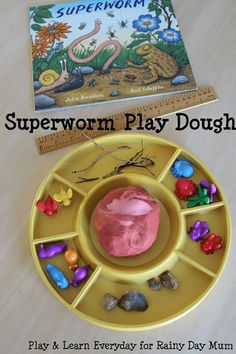Superworm by Julia Donaldson, fun preschool play activities for learning and fun bringing this favourite children's storybook to life Eyfs Activities, Playdough Activities, Activities For Kids, Nursery Activities, Minibeasts Eyfs, Julia Donaldson Books, The Gruffalo, Gruffalo Eyfs, Author Studies