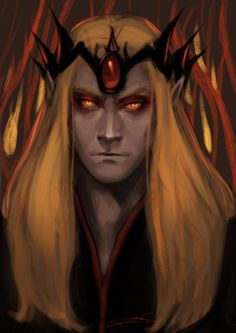Sauron circa the First Age. Been rereading The Silmarillion and wanted to do Sauron. and Melkor and the other Valar and Melian and wow just so many. Gandalf, Morgoth, Fantasy Male, Dark Elf, Jrr Tolkien, Dark Lord, Fantasy Artwork, Middle Earth, Lord Of The Rings