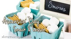 S'mores are a great way to explain Ascension Day and show how Jesus will have us rise from a very dark world into the realm of heaven one day. Sunday School Projects, Sunday School Lessons, Lessons For Kids, School Fun, School Ideas, Object Lessons, Bible Lessons, Ascension Of Jesus, Religion Activities