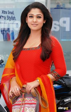 Nayantara Gorgeous Looks - Page 2 Salwar Neck Designs, Churidar Designs, Dress Neck Designs, Kurta Designs Women, Beautiful Girl Indian, Most Beautiful Indian Actress, Nayanthara Hairstyle, Saree Tassels Designs, Indian Bridal Photos