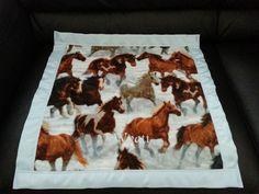Wild Horses Personalized Fleece Blanket Handmade & Custom  #Handmade