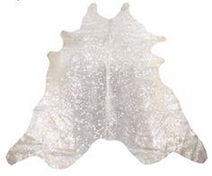 Cow hide silver metallic white cowhide by Swedishdalahorse on Etsy