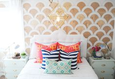 DIY Wood Scalloped Wall Tutorial | www.classyclutter.net