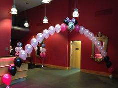 Minnie Mouse balloon arch, for childs 1st birthday, Milton Keynes