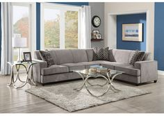 Austin's Couch Potatoes | Furniture Stores Austin, Texas Grey & Black Sectional With Sleeper