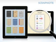 Scrapnote 1.1 for iPad - Store Your Memories in a Beautiful Notebook