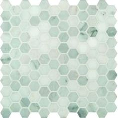MS International Inc Greecian White Hexagon 12 in. x 12 in. Polished Marble Mesh-Mounted Mosaic Floor and Wall Tile-GRE-1HEXP at The Home Depot