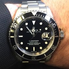 Rolex Submariner......not vintage not rare not really unique but it is ICONIC.  ##watchfetish #watches #watchcollector #rolexwatch#submariner#16610#rolexsubmariner by robpagny #rolex #submariner