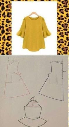 Dress Sewing Patterns, Blouse Patterns, Sewing Patterns Free, Free Sewing, Clothing Patterns, Blouse Designs, Baby Patterns, Make Your Own Clothes, Diy Clothes