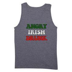 Angry Irish Drunk Tank Top http   www.cafepress.com tees4sale 339abf3bb26f