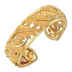 Buccellati 18k Gold Leaf Cuff Bracelet