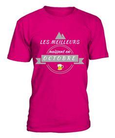 tshirt mois d'octobre Mens Tops, T Shirt, Fashion, October, Originals, Supreme T Shirt, Moda, Tee, Fashion Styles