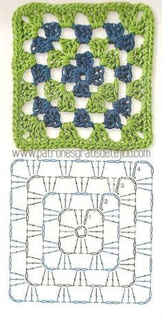 Colección de los mejores grannys crochet / Descarga Gratis   Crochet y Dos agujas