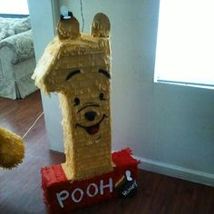 Pooh number one pinata, first birthday