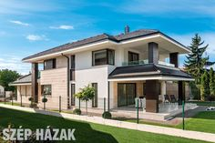 House of Lights - Beautiful Houses 2 Storey House Design, Modern House Design, Style At Home, House With Porch, My House, Luxury Homes Dream Houses, Design Case, Beautiful Homes, Architecture Design