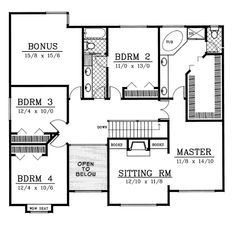 100-211 2nd floor - love the fireplace w/built-ins in them master. 4 bedrooms + rec room.