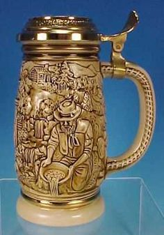 1987 AVON Collectible Stoneware Beer Stein GOLD RUSH Discontinued!
