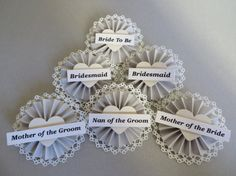 Bridal Party  Hen Party  Name Badges  Favours  by MadeByTheMrs, £1.60