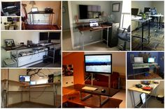 10 DIY Standing Desks Made with Pipe and Kee Klamp