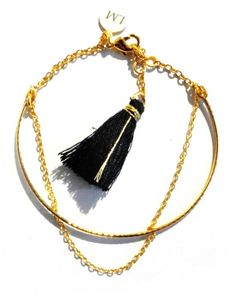 Bracelet - A mon bras - golden by Laure Mory Bijoux