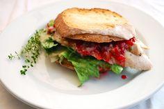 Thanksgiving Turkey Leftover ideas. Turkey sandwhich with cranberry sauce