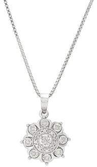 Flower Pendant, Silver Diamonds, Lord & Taylor, Pendant Necklace, Sterling Silver, Pretty, Flowers, Stuff To Buy, Jewelry