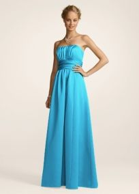 The perfect bridesmaids dress in Malibu Blue from Davids Bridal ...