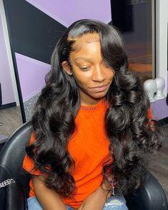 Birthday Hairstyles, Sew In Hairstyles, Black Girl Braided Hairstyles, Baddie Hairstyles, Pretty Hairstyles, Natural Weave Hairstyles, Crochet Weave Hairstyles, Weave Ponytail Hairstyles, Wedding Hairstyles