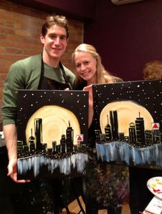Moonlit Boston Painting on Newbury St!
