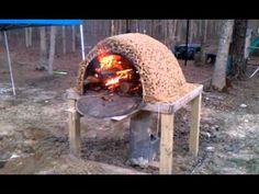 Rocket stove cob pizza oven 5