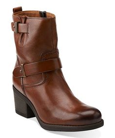 This Cognac Mojita Sorbet Ankle Boot is perfect! #zulilyfinds