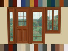 Mod The Sims - Paneled Doors and Windows Set by Raynuss Recoloured