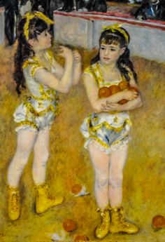 Pierre Auguste Renoir - Acrobats at the Cirque Fernando (Francisca and Angeline Wartenberg), 1879 at Art Institute of Chicago IL | by mbell1975