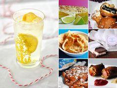 Street fair food ideas - nachos, corn dogs, corn on the cob, ice cream sandwiches, funnel cakes
