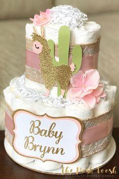 Pink gold girl floral succulent mama llama boho baby shower, baby shower ca Boho Baby Shower, Regalo Baby Shower, Shower Bebe, Baby Shower Diapers, Baby Shower Cakes, Baby Party, Baby Shower Parties, Baby Shower Themes, Baby Shower Gifts