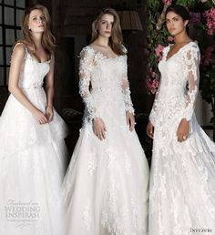 Top 3 Wedding dresses fromIntuzuri 2014L'attrice Bridal Collection