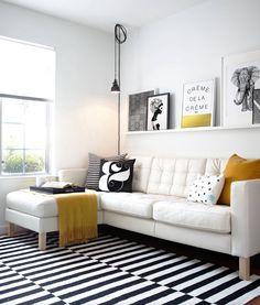 Unapologetically simple- black, white, dash of color.