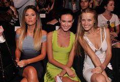 (L-R) Daisy Fuentes, actress Odette Annable and model Petra Nemcova attend the Herve Leger By Max Azria Spring 2013 fashion show during Mercedes-Benz Fashion Week at The Theatre, Lincoln Center on September 8, 2012 in New York City.