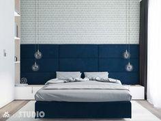 sypialnia niebieskie akcenty - zdjęcie od MIKOŁAJSKAstudio - homebook