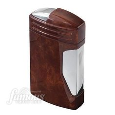 Vector Megatron Triple Flame Cigar Lighter: Mahogany Marble Lacquer Order Online Now at http://www.famous-smoke.com/vector+megatron+triple+flame/item+39661