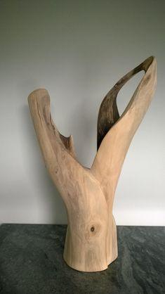 wood sculpture in progress By Jan Van Braekel Driftwood Sculpture, Stone Sculpture, Driftwood Art, Sculpture Art, Pebble Art, Canvas Art Prints, Wood Carving, Rustic Wood, Statues