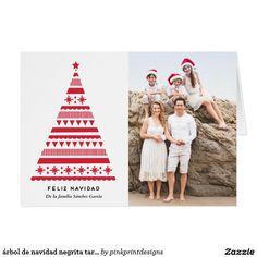 árbol de navidad negrita tarjeta de la foto card