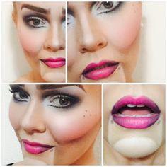 Marionette puppet makeup