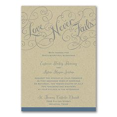 Love Rules - Invitation - Kraft. Available at Persnickety Invitation Studio.
