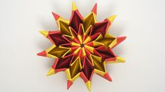 Origami Fireworks (Yami Yamauchi) - remake. I did this, it's a bit long to do but the result it's beautiful
