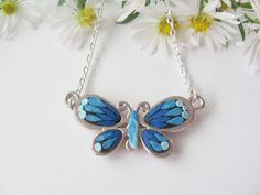 Colourful Butterflies handmade polymer clay by AtellierHandmade