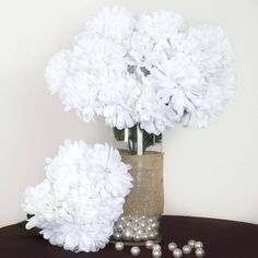 56 Artificial Silk Chrysanthemum Wedding Flower Bush Vase Centerpiece Decor - White / Have limited budget for real Mum Bush? Our beautiful mum bush selection is your ideal choice to create the cheerful atmosphere. The vibrant color makes the silk mum bush the wonderful piece to go with any types of celebration. This gorgeous flower is care free and will be the decor essence to add a touch in your wedding decoration. Assorted colors available.