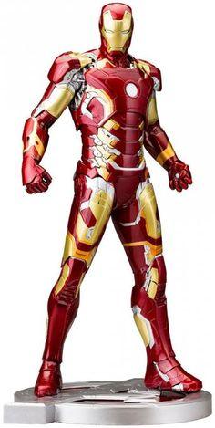 Estatua Iron Man Mark XLIII 28 cm. Los Vengadores: La Era de Ultrón. Línea ARTFX . Escala 1:6. Kotobukiya Si eres fan de Los Vengadores no te pierdas esta figura de la armadura de Iron Man Mark XLIII de 28 cm de altura, articulada, 100% oficial y licenciada perteneciente al film de Los Vengadores: la era de Ultrón.