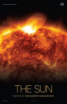 About the image: The Sun emits a mid-level solar flare, as seen by NASA's Solar Dynamics Observatory in Credit: NASA/SDO Solar System Exploration, Nasa Solar System, Space Exploration, Nasa Sun, Cosmos, Solar System Poster, Arcade, Sun And Earth, Space Facts
