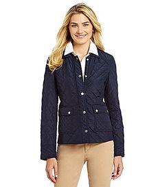 Jones New York Signature Quilted Outerwear Jacket #Dillards